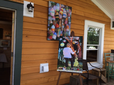 Entry way of Live Oak Gallery art show for Susan