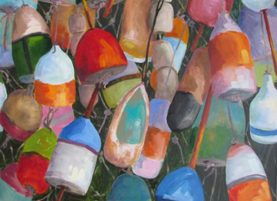 Susan Richardson Painting of buoys