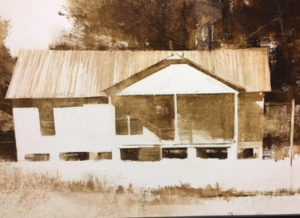 The old house before Live Oak Gallery