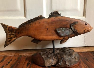 "Blaise Lareau ""Redfish"" mixed media $425"