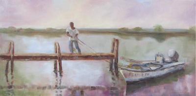 "Susan Richardson ""Siesta Time"" 7x14 framed giclee print $85"