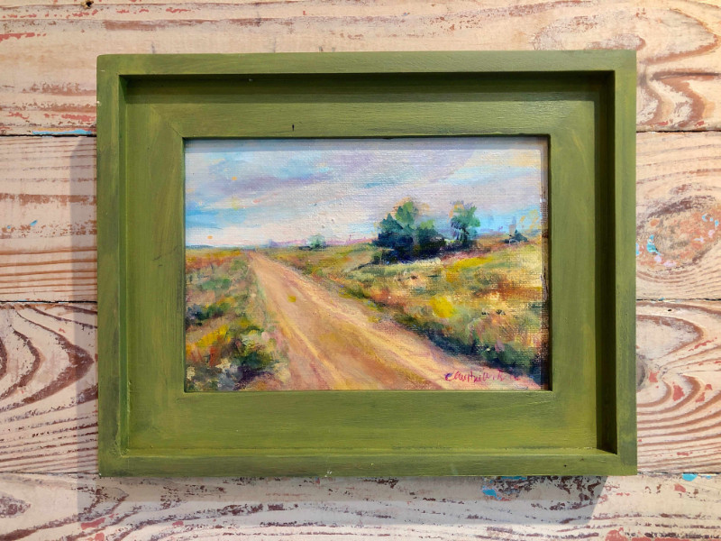 """Christine Black """"Lighting Out"""" 5x7 oil on board $225"""
