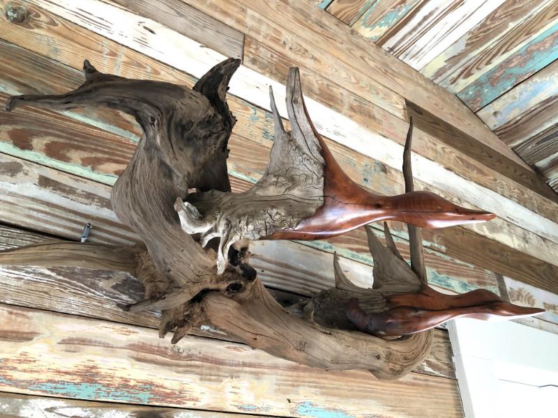 "Daryl Freed ""Treasure Hunters"" 15x27x12 cedar driftwood $380"