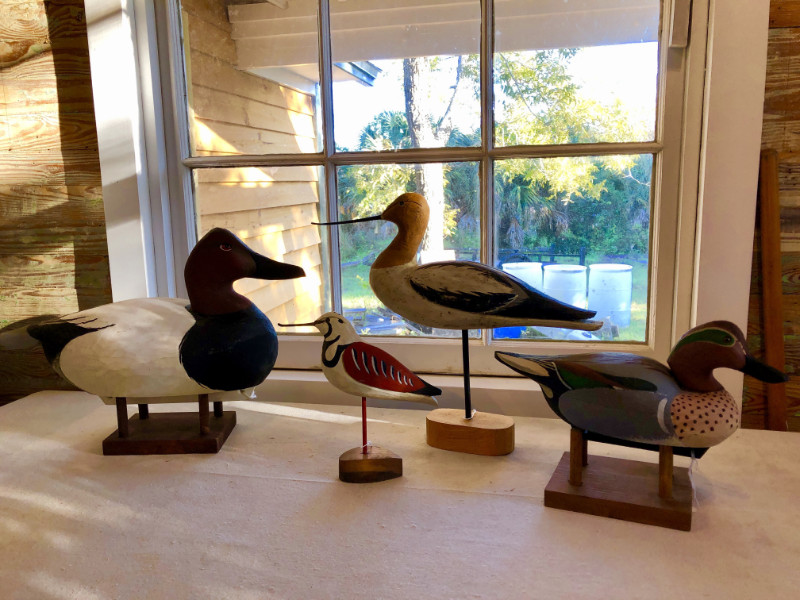 Henry Brewer carved birds and duck decoys