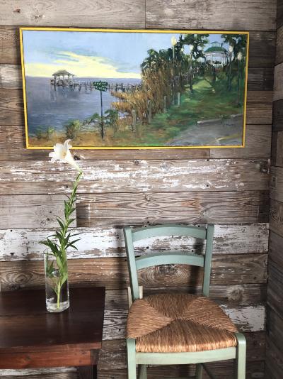 "Jane Howard ""13th & Bay"" 18x36 oil on canvas $950"