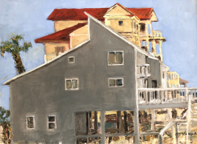 """Jane Howard """"View from Nargiz"""" 13x17 oil on canvas $575"""