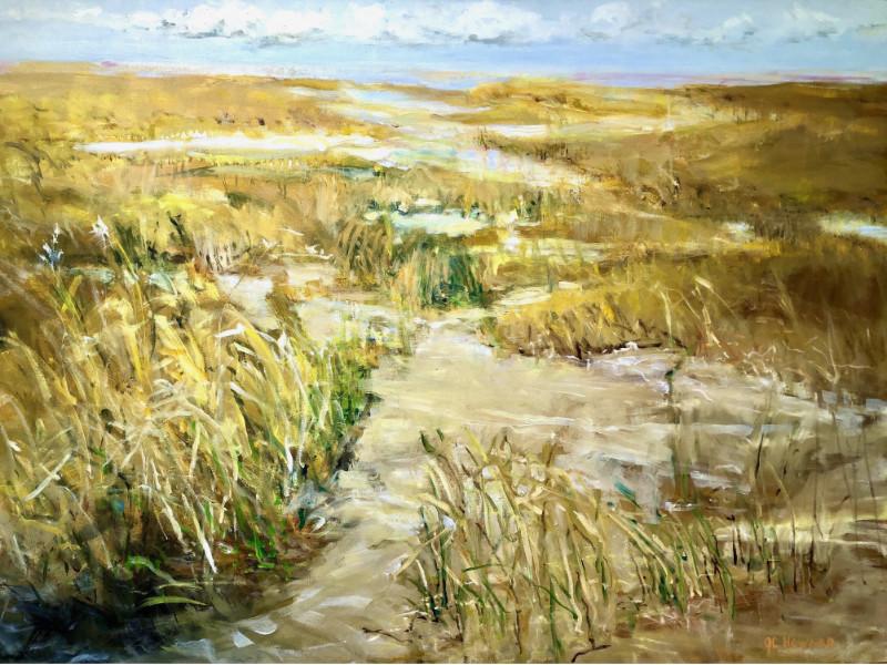 """Spring Marsh Grass"" 30x40 oil on canvas $1500"