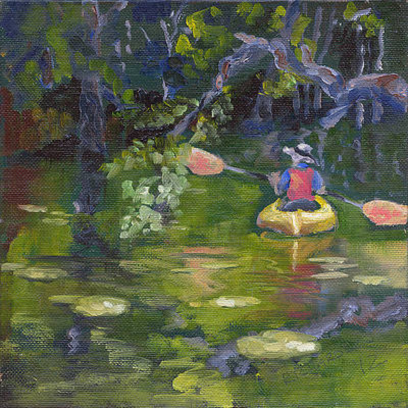 """Susan Richardson """"Great Day For A Paddle"""" 11x11 giclee print $39"""