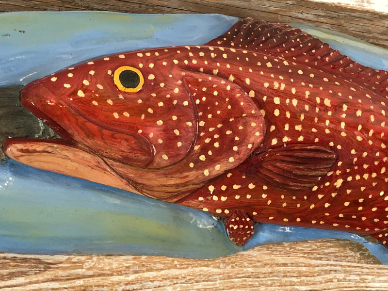 "Isaac Brooks ""Strawberry Grouper"" cypress $450"