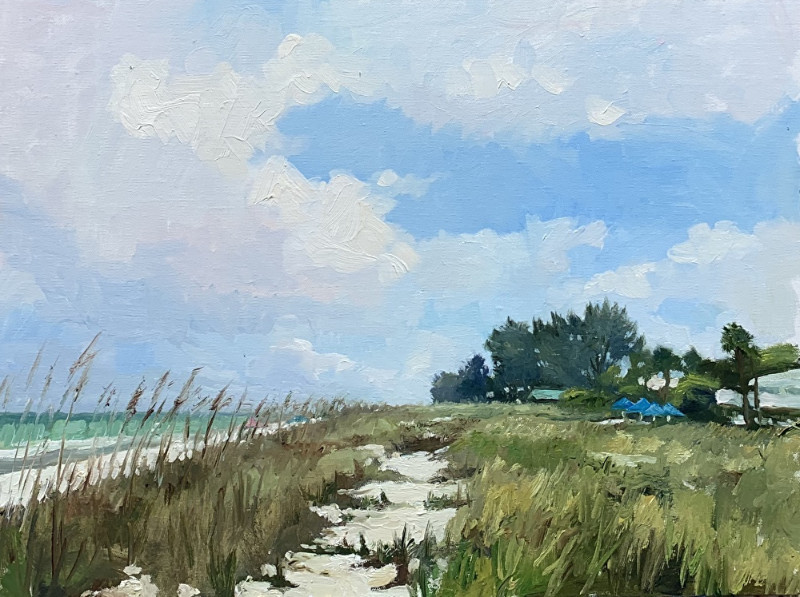 Cory Wright Quiet on the Beach 12x16 oil on canvas $1250