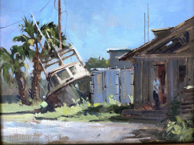 Mary O. Smith Apalachicola Backyard 11x14 oil on canvas $650