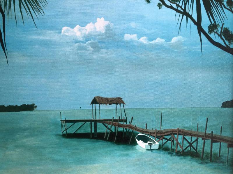 Mally Weaver Barracuda Bay giclee print on canvas $145
