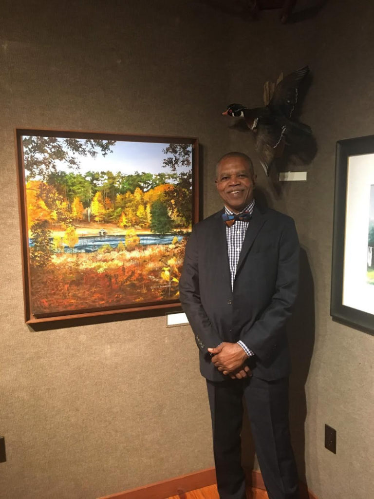 """Eluster Richardson at the opening for his show """"From the Forgotten Coast to the Red Hills"""" at the Tallahassee Museum."""