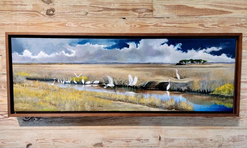Eluster Richardson Bottom Road 12x36 oil on canvas $2500.