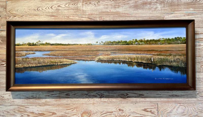 Eluster Richardson Ochlockonee Bay at Panacea 12x36 oil on canvas $2500