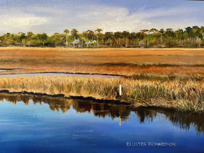 Eluster Richardson Ochlockonee Bay at Panacea detail