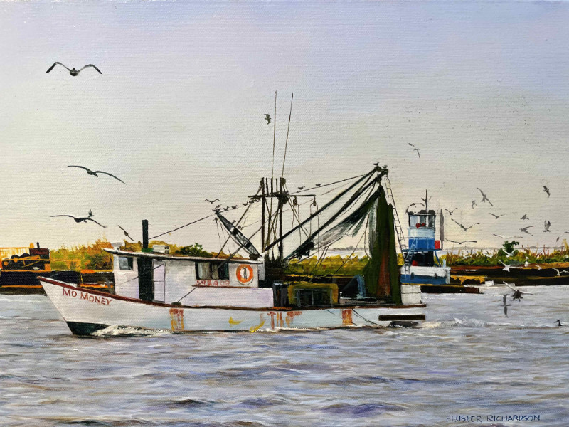 Eluster Richardson Shrimpboat at Apalachicola detail