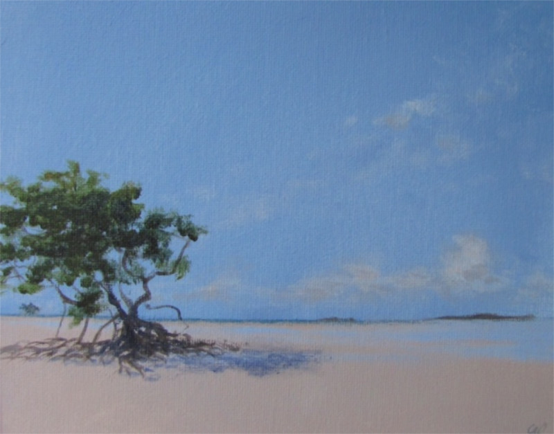 Gabriella Fiabane Low Tide 8x10 oil on canvas $650