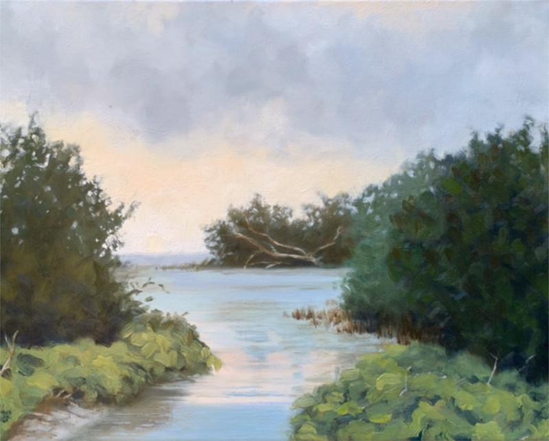 Gabriella Fiabane Salt Creek 11x14 oil on canvas $850