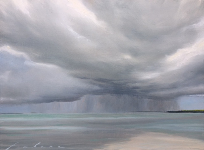 Gabriella Fiabane Summer Squall 9x12 oil on linen-board $750