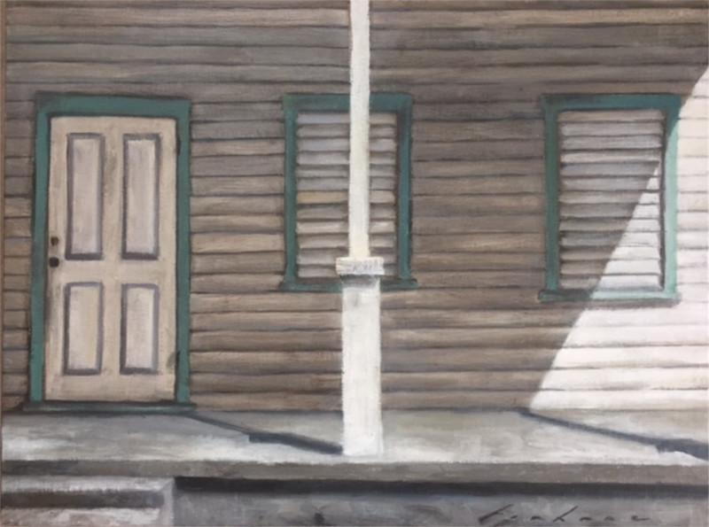 Gabriella Fiabane The Old Porch 9x12 oil on linen-board $750