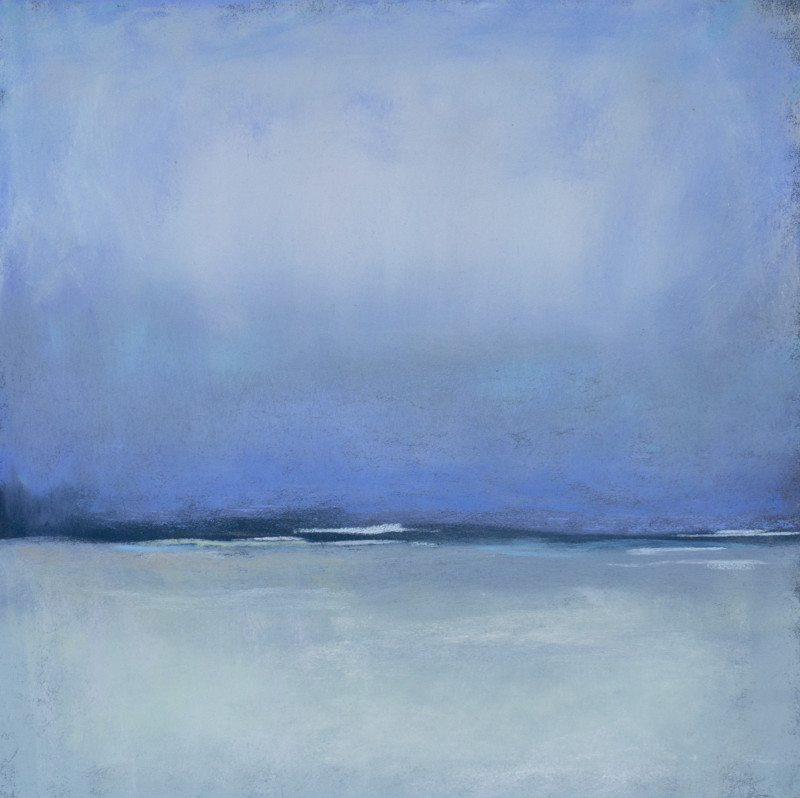 Barbara Noonan SilveryBlue 9x9 (17x17 framed) pastel $425