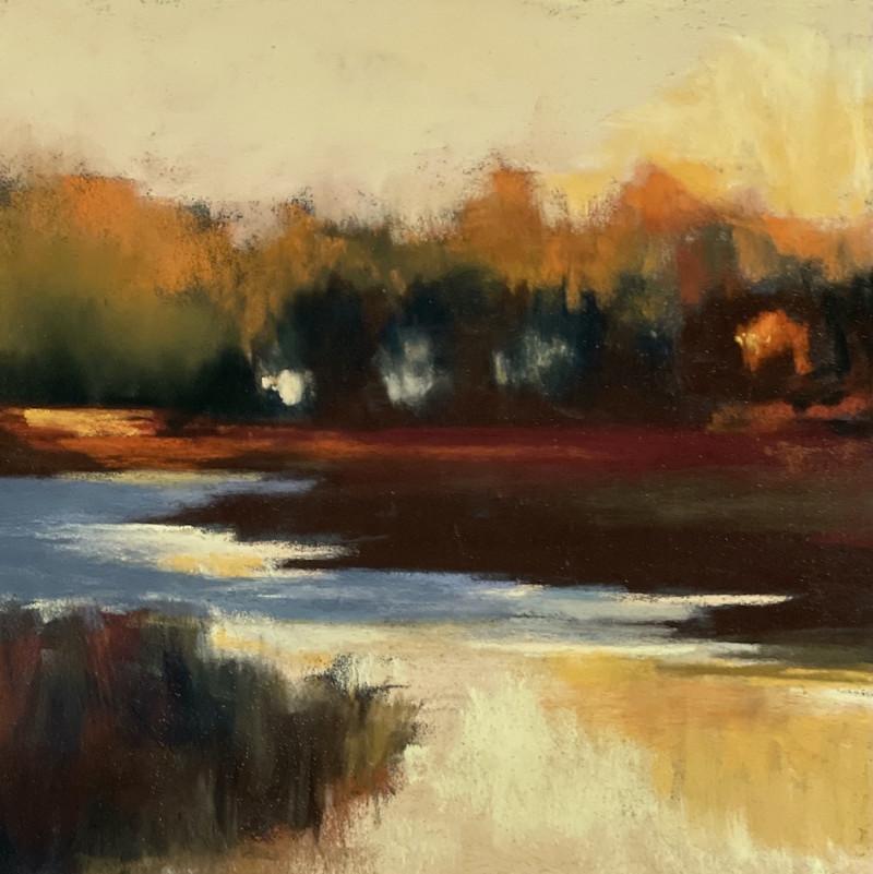 Barbara Noonan COVER The Last Bit of Sun 7x7(12x12 framed) pastel $350 copy