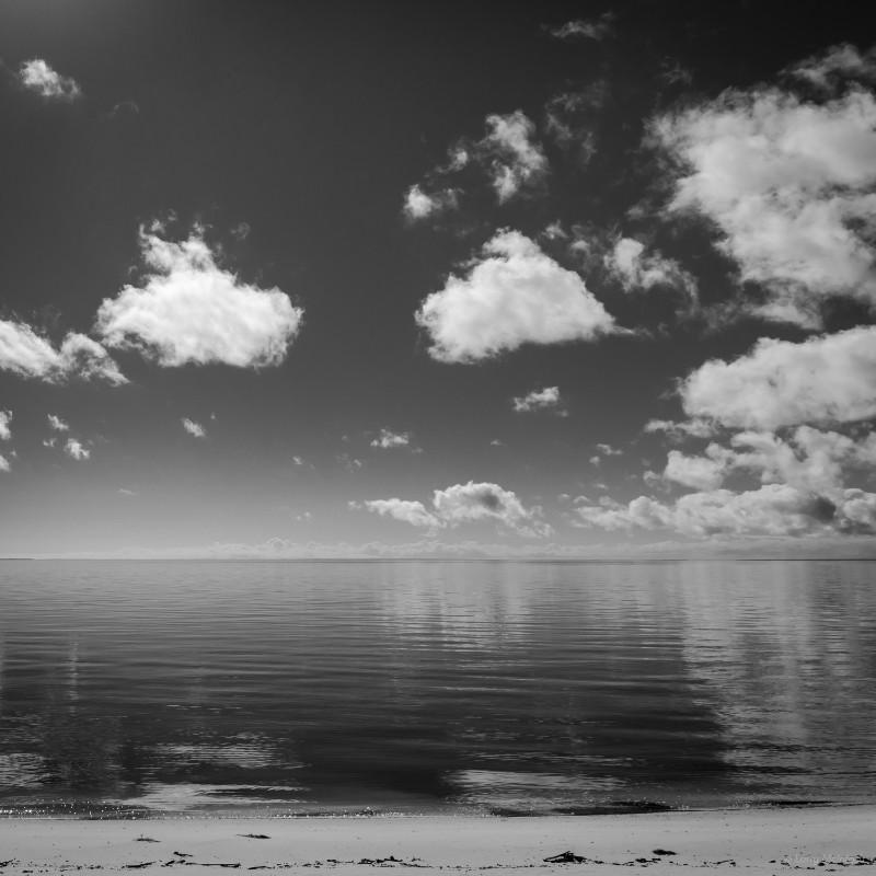 Larry McIntosh Bay Reflection 17x17 framed $225