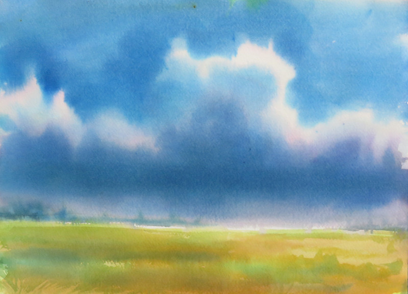 Christine Black Stormy Weather 8x11 watercolor $400