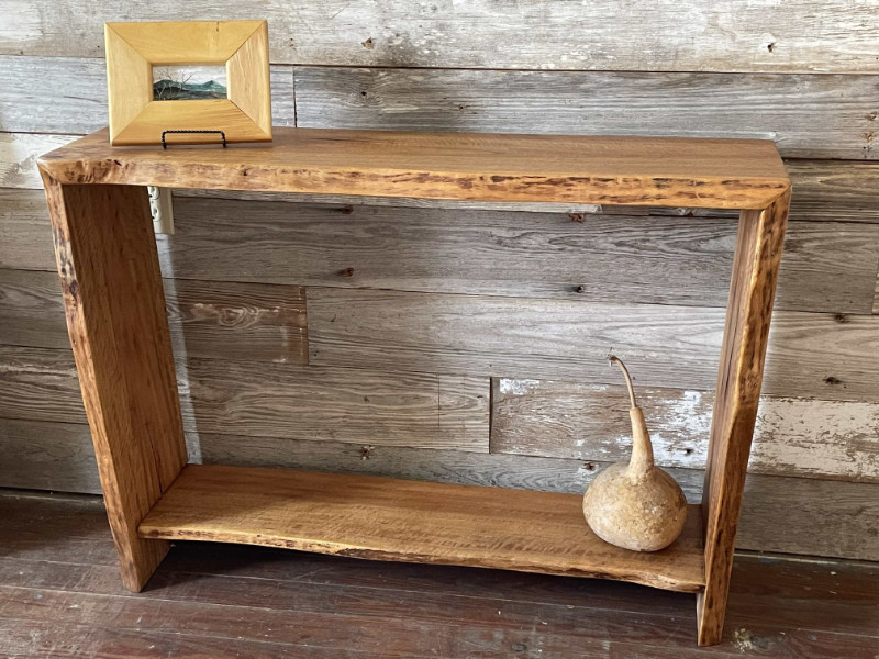 Tom Avery - Tropical Almond Console Table with waterfall edge 41x12x29h $1100