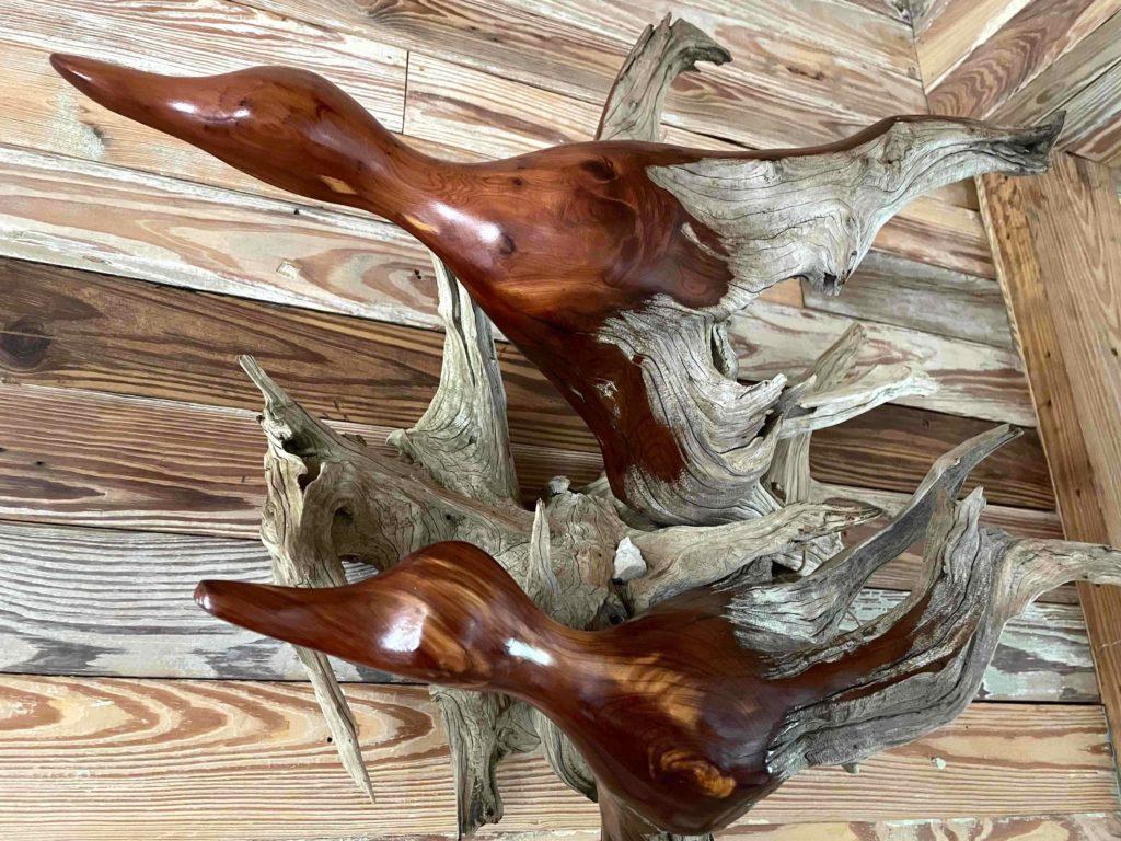 Daryl Freed Rock Solid 25x26x14 cedar driftwood $450
