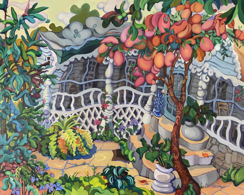 Judith Surowiec Seventh Heaven 24x30 acrylic on canvas $720