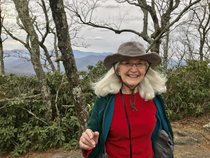 Judy in the mountains