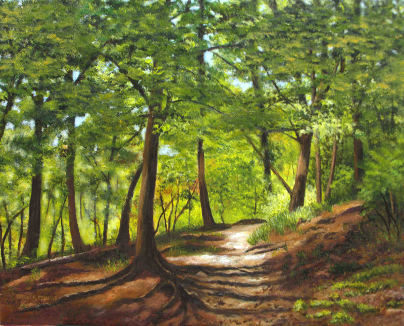 Brenda Francis Rooted Path 16x20 acrylic on canvas $600