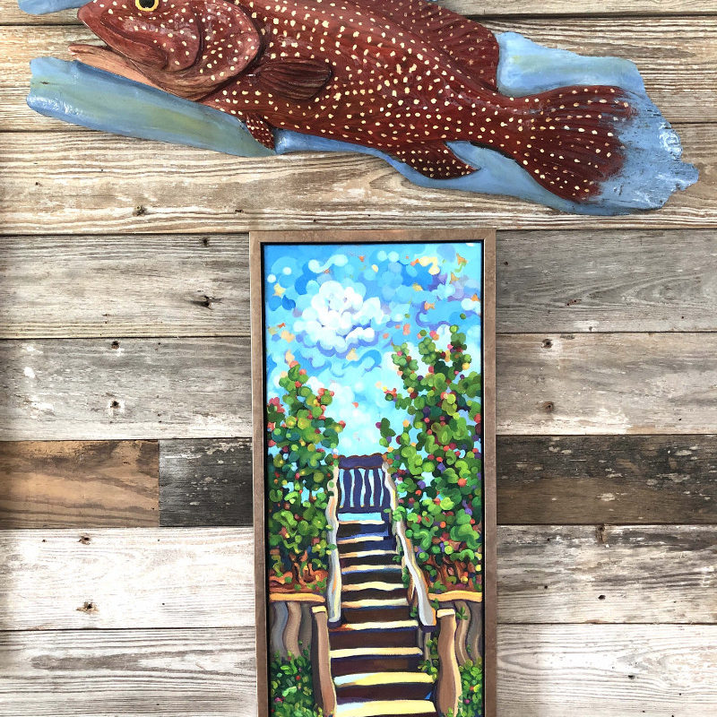 Isaac Brooks Strawberry Grouper over Judith Surowiec Stair
